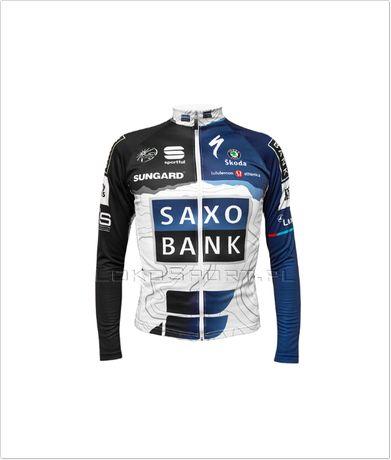 Ocieplana bluza kolarska SAXO BANK, rozmiary od S do 4XL