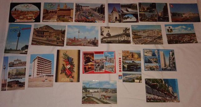 Почтовые открытки ГДР, Канада, СССР 1970-е.