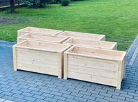Donica tarasowa drewniana, donice drewniane, doniczki na taras