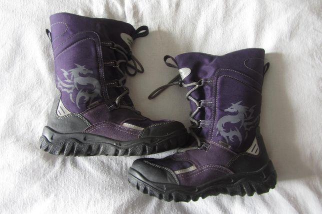 Чобітки зимові чоботи Суперфіт для дівчинки сапожки для девочки