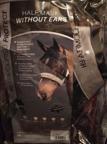 Защитная маска головы лошади от насекомых. Without fars. Новая.