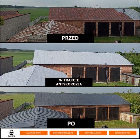 Malowanie Dachów hal, impregnacja dachówki Kościołów Gwarancja pisemna