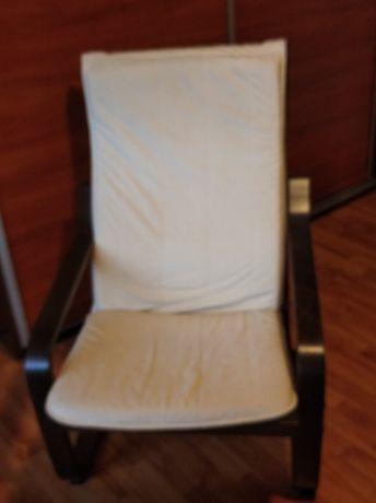 Fotel  na plozach.