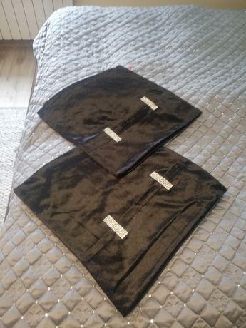 Poszewki home&you czarne cekiny glamour 45x45 komplet