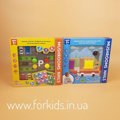 Игра мозаика MUSHROOMS NAILS для детей от 1 года