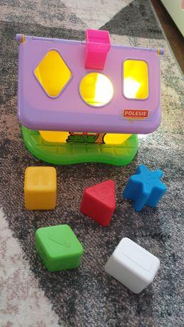 Domek dla dziecka klocki kształty figury