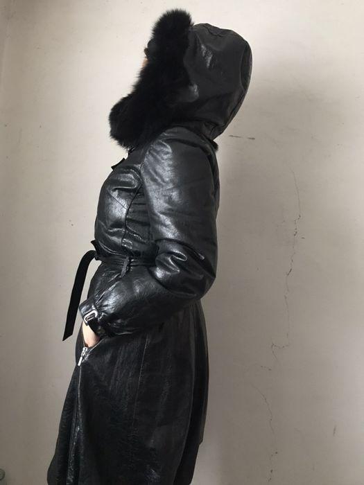 Зимнее кожаное пальто Бурынь - изображение 1