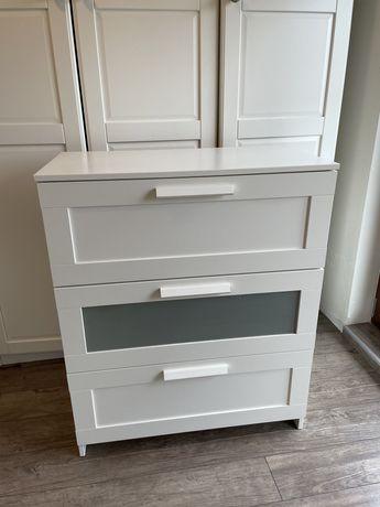 Komoda, biała, 3 szuflady IKEA BRIMNES