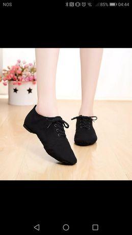 Sapatos pretos 42 novos dança jazz sapatilhas homem mulher