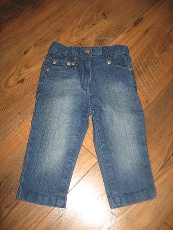 Spodenki jeansowe rozm 74/80 nowe