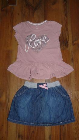 super stan modny zestaw spódniczka Cool Club bluzeczka MATALAN r.122