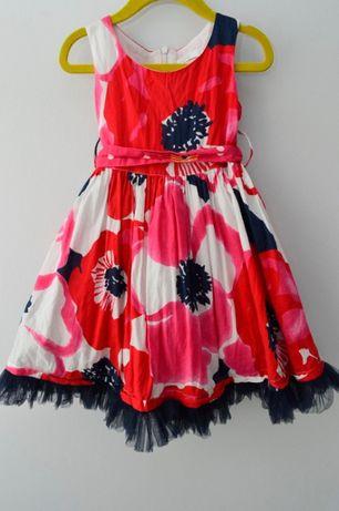 Przepiękna sukienka w czerwone kwiaty