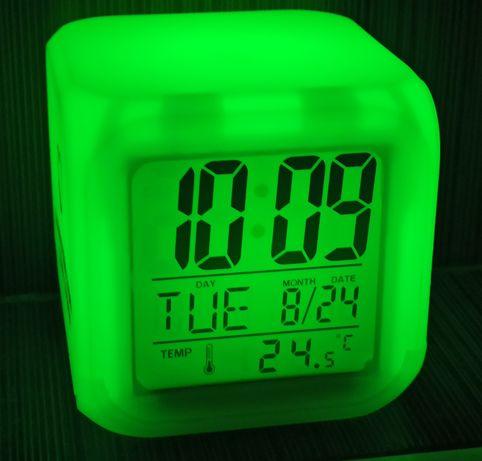 Лед часы. Часы будильник с подсветкой. Ночник. Будильник.