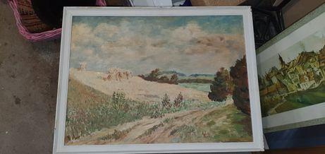 Po żniwach,  W. Radziszewski, obraz, malowany  50 x 65