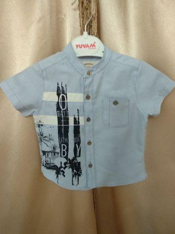 Стильна, модна сорочка BAYNAS для хлопчика 6-9 місяців