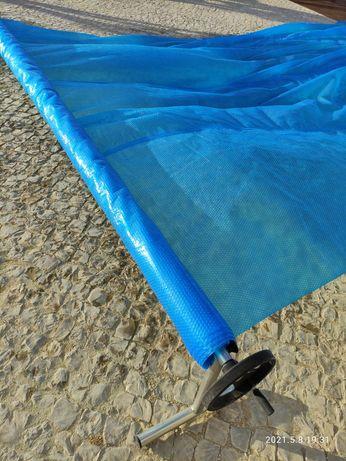 Enrolador cobertura piscina