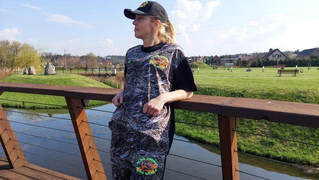 Koszulka spodenki wędkarska myśliwska na ryby na polowanie na lato