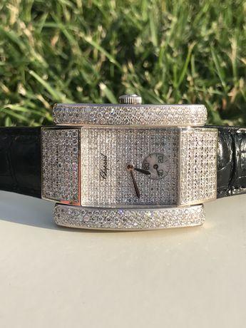 Золотые швейцарские часы с бриллиантами Chopard