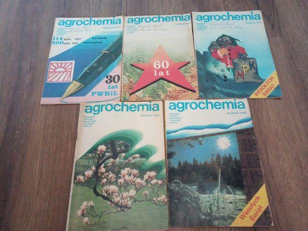 Gazety miesięcznik Agrochemia numery z 1977r i 1978r