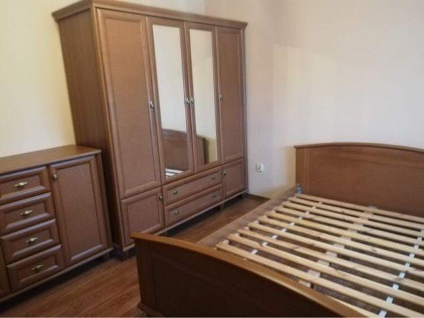 Zestaw mebli BRW łóżko szafa komoda model retro black red white orzech