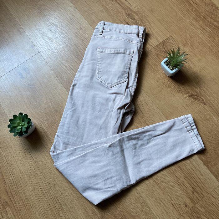 Spodnie dopasowane jeansy pudrowy róż do kostek streetwear vintage Witaszyce - image 1