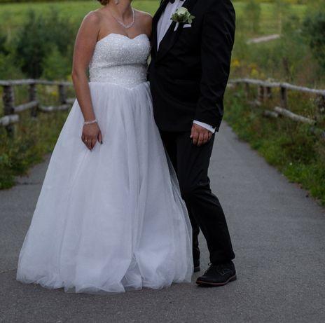 Suknia ślubna kryształy Svarowski