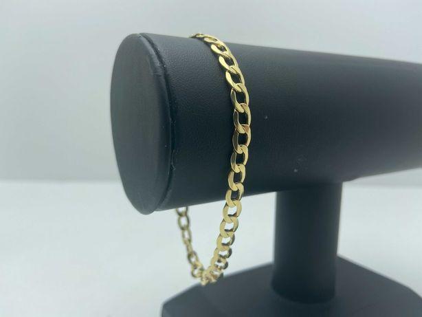 Złota bransoletka PANCERKA 4,45g 585 21cm LOM95