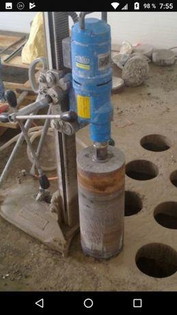 Алмазное сверление бурение бетона. Алмазная резка.