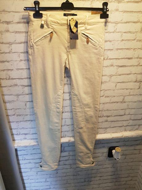 Ralph Lauren polo 26 spodnie kremowe jeansy