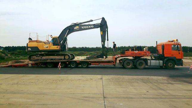 Transport niskopodwoziowy maszyn budowlanych