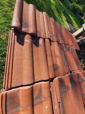 Dachówka rzymska betonowa, kolor ceglasty