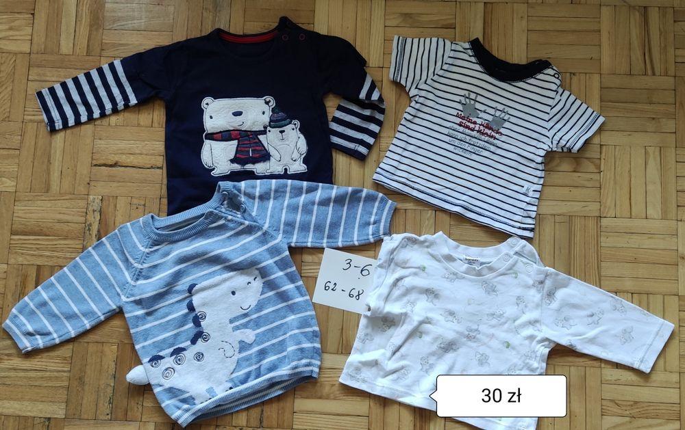 Paka ubrań ubranka 62-68  body świąteczne bluzki piżama rampers Siedlce - image 1