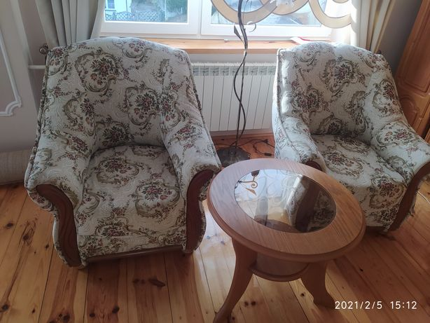 Fotele + stolik kawowy