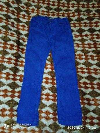 Вельветовые штаны на девочку (рост 140)