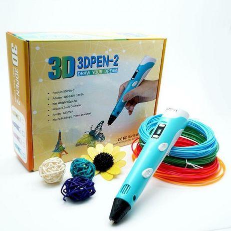 3Д ручка для объемного рисования детей 3d pen маривел myriwel