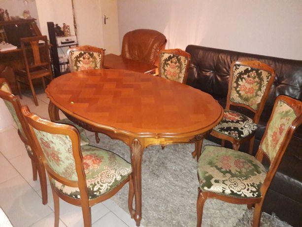 Stół i 6 krzeseł z Francji (D.99)