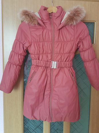 Пальто зимнее 134см
