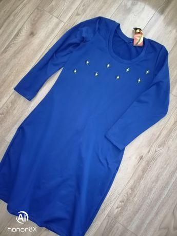 Новое тёплое платье с биркой, размер 46