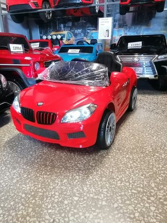 Samochód Beta Red na akumulator dla dzieci Pilot dla rodzica Odbiór