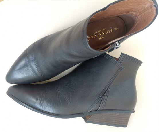 Коллекционные кожаные ботинки - козаки .Signatur, NEXT