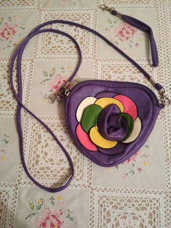 Сумочка детская маленькая разноцветная фиолетовая