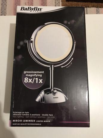 BABYLISS PARIS Espelho luminoso com pé, 2 lados, 8438E NOVO