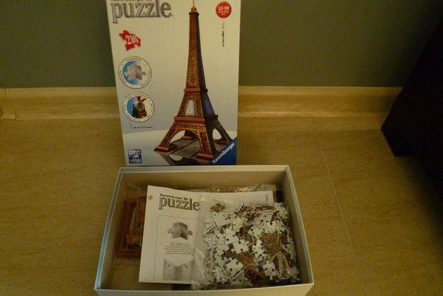 Sprzedam Puzzle 3D Wieża Eiffla 216 elementów Ravensburger