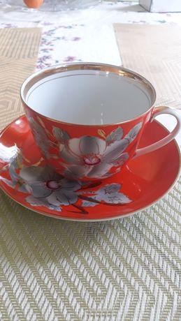 Чашка с бдюдцем времен СССР