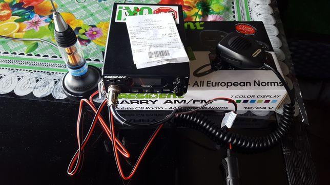 Radio cb president teddy + antena president używane przez tydzień