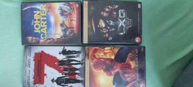 DVD siedmiu wspaniałych,john carter,spider men 2,liga niezwykłych dżen