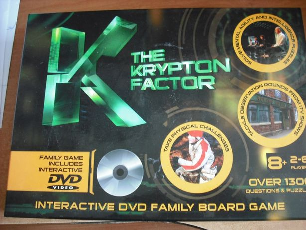 The Krypton Factor - Interactive DVD Family Board Game.