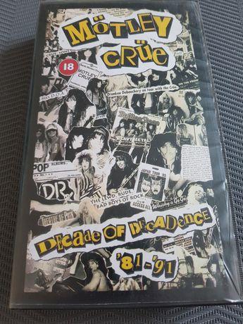 Motley Crue - Decade Of Decadence  '81-'91 kaseta VHS