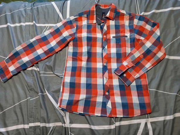 Koszula w kartę LINCOLN & SHARKS BY 5.10.15. dla chłopca rozmiar 152