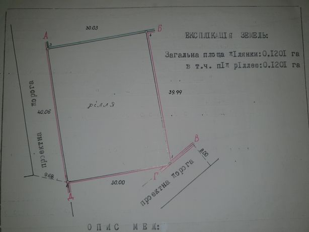 Земельна ділянка смт.Богородчани
